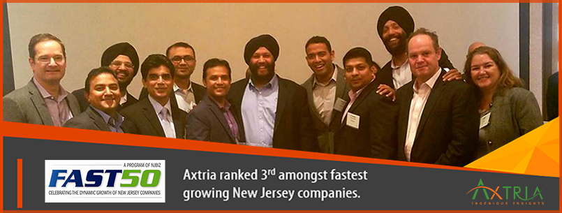 Axtria New Jersey's 50 Fastest Growing Companies