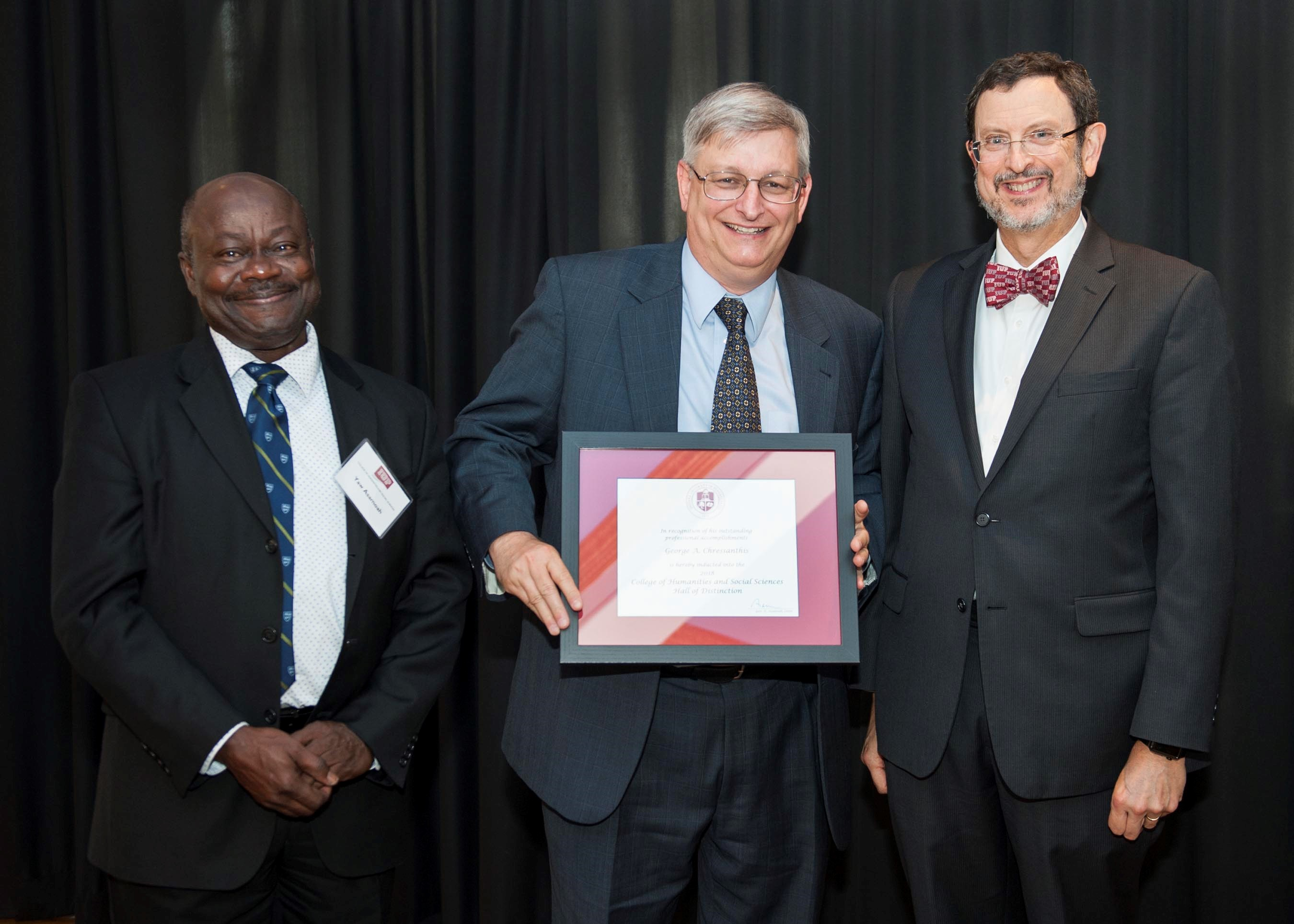 Dr. George A Chressanthis Is Inducted Into The Indiana University Of Pennsylvania CHSS Hall Of Distinction