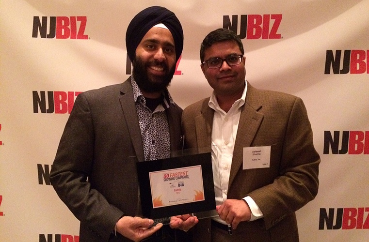 AXTRIA RANKED 11TH ON NEW JERSEY'S 50 FASTEST GROWING COMPANIES (2015) BY NJBIZ